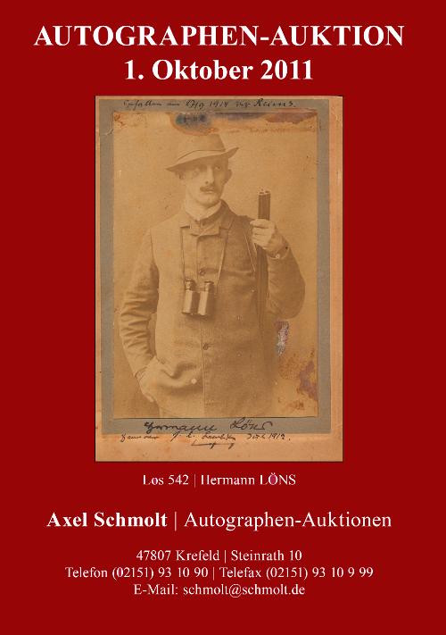 26. Autographen-Auktion